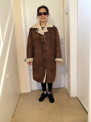 "Antartex  Ladies Lamb Skin  Coat (Size ""20R"") (Uk Made)"