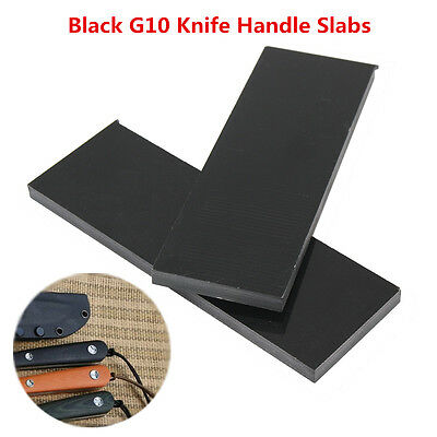 2 Pcs New Black Knife Handle Material Scales 1/4 (.25)'' x 1.5'' x 5.5'' Slabs