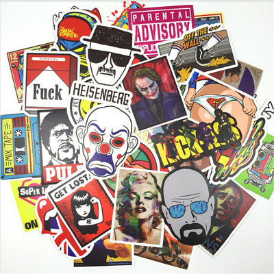 100pcs DIY Stickers Car Auto Luggage Doodle DIY Motor Bike Vinyl Bomb Graffiti