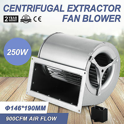 250W Centrifugal Blower Fan Fireplaces Pellet Stove Ventilation Heating Timber