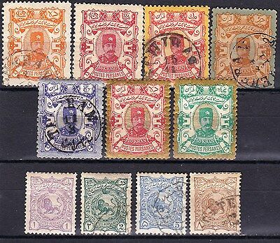 Largest Middle East Country Persia- Scott 90 - 100 - Complete Set - Look!