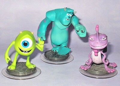 DISNEY INFINITY 3 x MONSTERS INC. UNIVERSITY FIGURE COLLECTION LOT Figurine Set