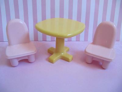 fisher price my first doll house furniture lot kitchen table chairs