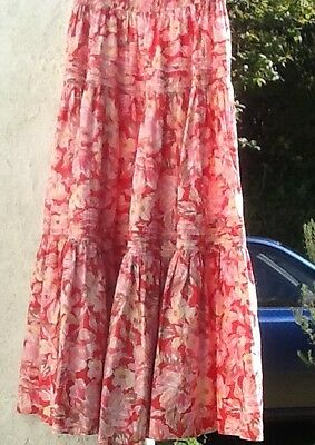 Vintage Laura Ashley Tiered Gypsy Skirt. Retro, Boho. Excellent Condition. Large