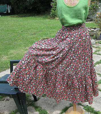 Vintage Laura Ashley Tiered Gypsy Skirt. Retro, Boho. Excellent Condition. Med.