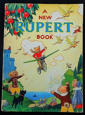 Superb Vintage Original 1945 Rupert Bear Annual, Price Unclipped 3/6
