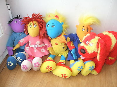 "Full Set Of 5 Tweenies 15"" Plush Soft Toy Jake Milo Fizz Bella Doodles Cbeebies"