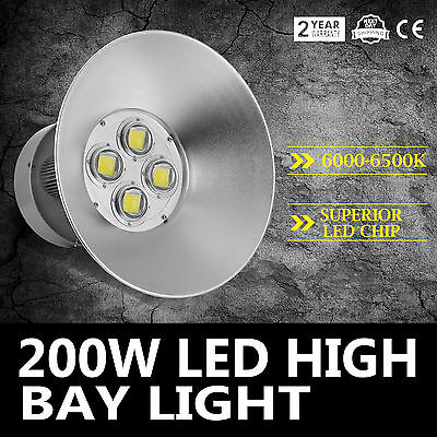 200W LED High Bay Light White Lamp Lighting Fixture Durable Good Pro GREAT