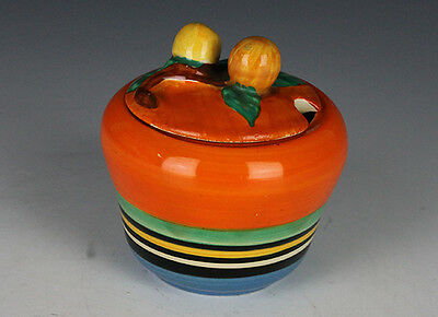 Clarice Cliff Liberty Banded Berry Preserve Pot.