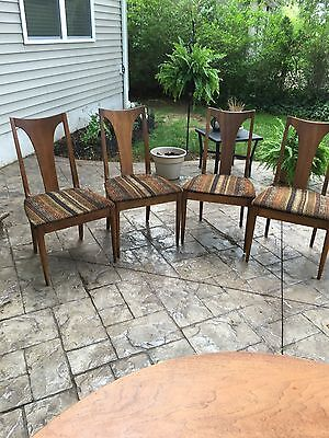 Four Vtg Mid Century Modern Broyhill Brasilia Sculptra Walnut Dining Side Chair