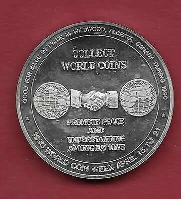 1990 Wildwood Alberta SILVER Trade Dollar -Coin Week - ONLY 25 MINTED!! #8