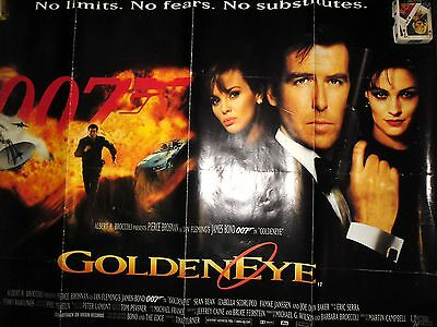 Original James Bond - Goldeneye, 1995 First Release  British Uk D/s Quad Poster