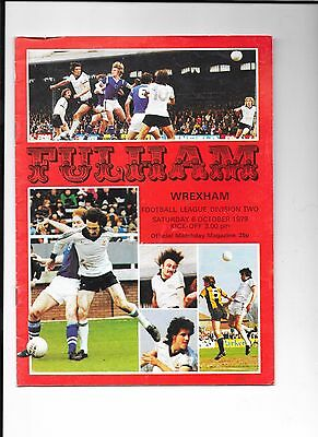 8 Fulham football programmes, home matches 1979/80 League Division 2 (B0557)