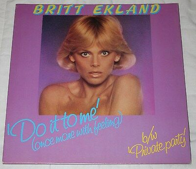 """Britt Ekland - Do It To Me (Once More With Feeling). (Uk, 1979, 12"""", Jet 12 161)"""
