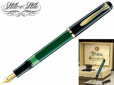 Pelikan M151 Verde Nera | Penna Stilografica Pelikan Green Black | Fountain Pen