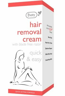 Pretty Hair Removal Cream Simple To Apply includes a bladeless razor