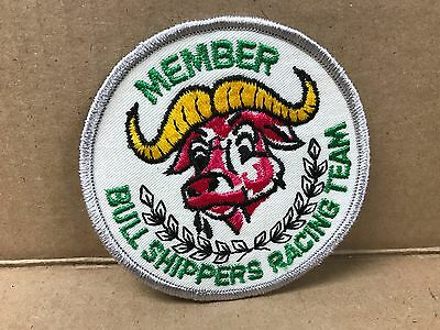 """Vintage Original Embroidered 1970's Bull Shippers Racing Jacket Patch  4"""" X 4"""""""