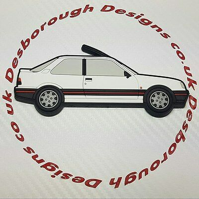 Peugeot 309 Gti fridge magnets , White