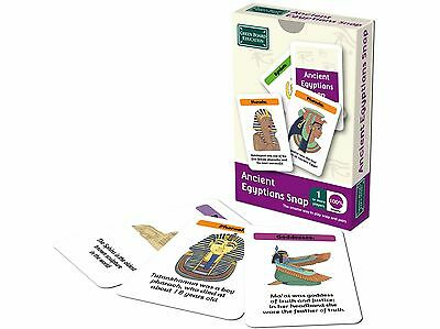 Educational Ancient Egyptians Snap & Pairs Card Game for Children g111