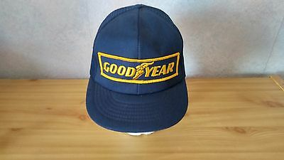 Vintage Goodyear #1 in Racing Mesh Back Embroidered Trucker Cap Hat Snapback