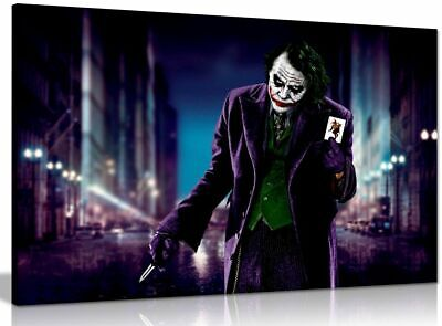 Joker & Card Batman Canvas Wall Art Picture Print