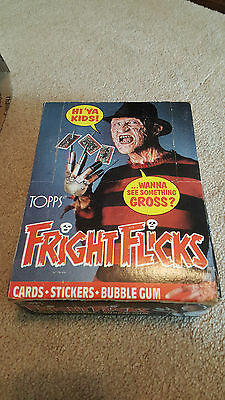 FRIGHT FLICKS Unopened 36 Wax Pack Box TOPPS 1988 Nightmare on Elm Street