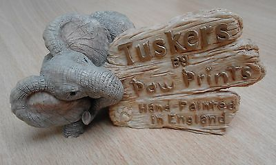 Tuskers by Paw Prints Elephant Display ..Collectable