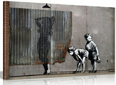 Exposed Kids Banksy Dismaland Canvas Wall Art Picture Print