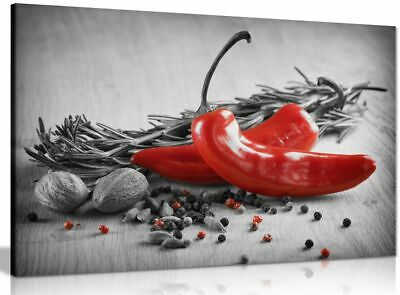 Herbs & Spices Kitchen Canvas Wall Art Picture Print
