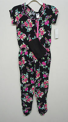 Girls Pogo Club Of NY Size 6X 7-8 10-12 & 14-16 $40.00 Black Floral Romper