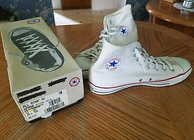 Converse All Star Hi Size 11 Men's Top Made In USA Mens Athletic Sneaker White