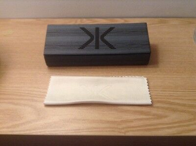 Jk London Designer Spectacles Glasses Case With Cleaning Cloth - New