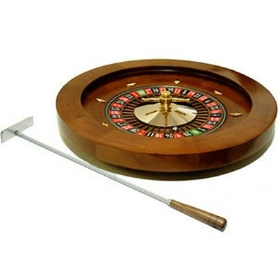"""16"""" Deluxe Quality Solid Real Wooden Roulette Wheel Game Roulete Spinning"""