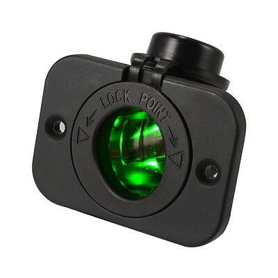 12V-24V Car Boat Cigarette Lighter Socket Power Adapter Charger Green LED MA1110