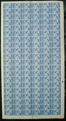 1948: Great Britain: George Vi: Silver Wedding: 4 No Dot. Full Sheet Mnh Stamps
