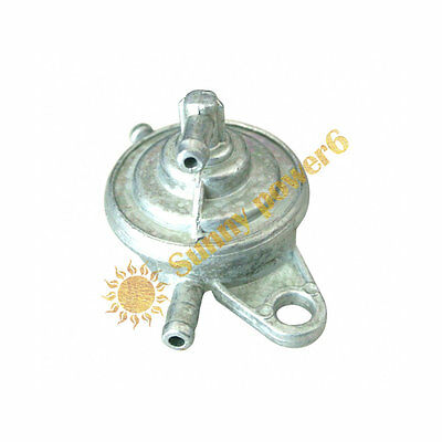 3-Port Vacuum Fuel Pump Valve Switch Petcock For GY6 50/125/150cc Moped Scooter