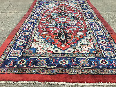 7x11 HAND KNOTTED WOVEN RUG PERSIAN HERIZ IRAN WOOL AREA RUGS 7 x 11 made 9 8 10