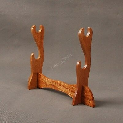 Two Layers Wood Sword Stand for Katana Wakizashi Japanese Samurai Sword 05