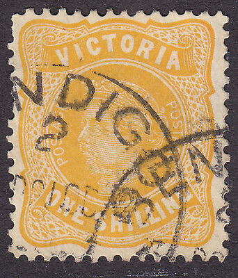 Victoria SG381 1 shilling - INVERTED WATERMARK - used