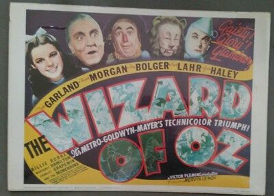 Wizard Of Oz 1939 Movie Poster 20x28 Portal Publications M081 Litho
