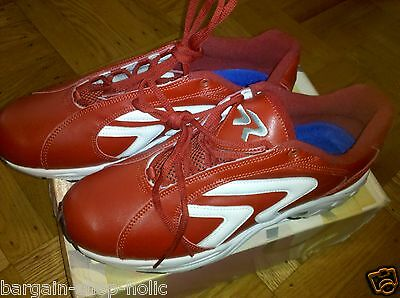 Ringor Red turf baseball / softball leather shoes, Red - Size 11.5, New