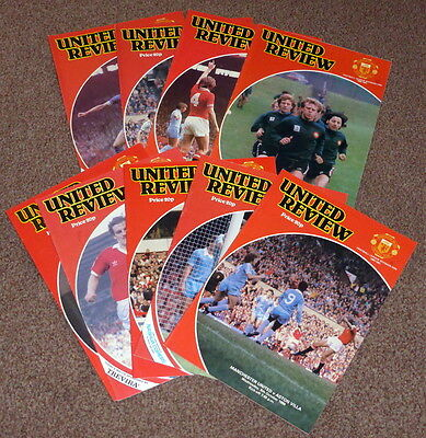 9 Manchester United League Division One Programmes (Listed)1980-81 - Exc