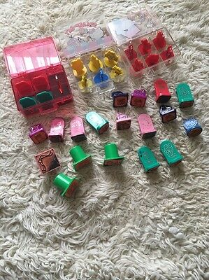 Lot 34 Vintage Sanrio HELLO KITTY Rubber Stamps Set