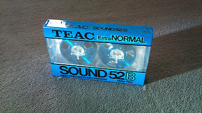 ONE TEAC REEL SOUND 52B Japan Cassette Tape  Extra NORMAL NEW, SEALED,  RARE