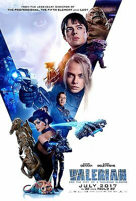 VALERIAN AND THE CITY OF A THOUSAND PLANETS 4ft x 6ft ORIGINAL MOVIE POSTER