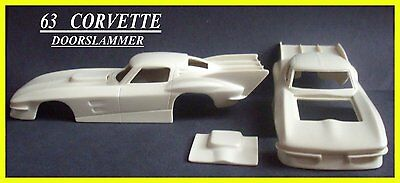 Resin Model 63  Corvette  Doorslammer Body 1/24  1/25 Scale
