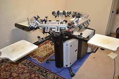 Printa 770 Deluxe Plus Screen Printing System with 6 color/4 station w/ Access.