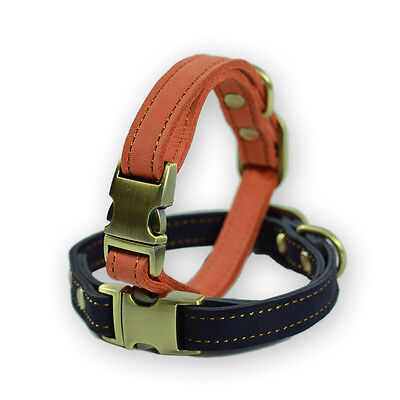 Adjustable Leather Dog Collar Puppy Collar Pet Supplies 25-36 CM For Small Dog