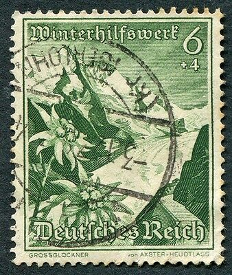 GERMANY Third Reich 1938 6pf+4pf deep green SG666 used Winter Relief Fund b#W28