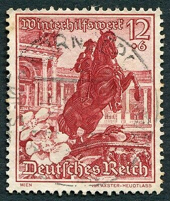GERMANY Third Reich 1938 12pf+6pf brown-red SG668 used Winter Relief Fund #W28